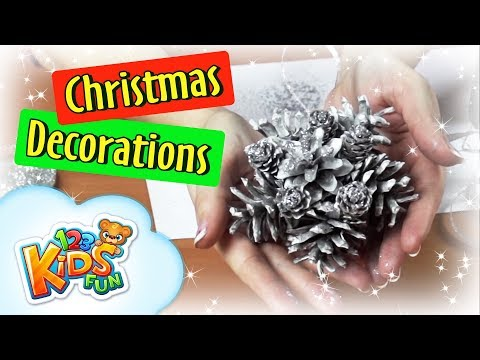 🎄 DIY by Creative Mom #3 christmas decoration ornaments how to make pine cone ornament 123 kids fun