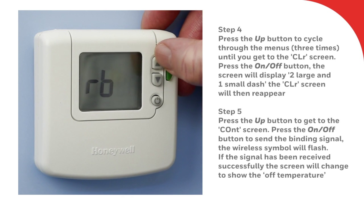 Re binding the DT92E Wireless Room Thermostat | Honeywell Home