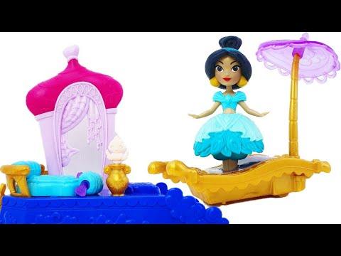 Открываем игрушку от  Disney Princess: комната принцессы Жасмин (Jasmine) и летающий ковер-самолет