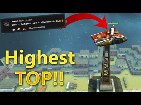 Getting on the Highest tower in Rio with Mammoth!! Challenges Video #6 Tanki Online!!