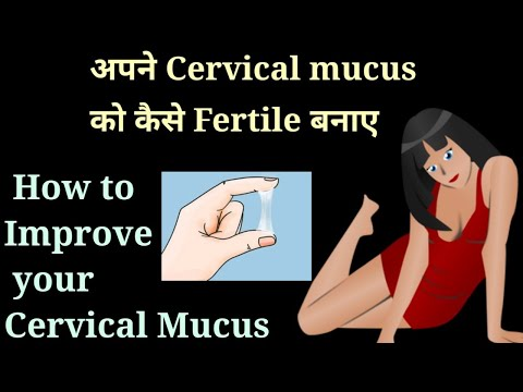 अपने Cervical Mucus को कैसे Fertile बनाए How to Improve cervical mucus