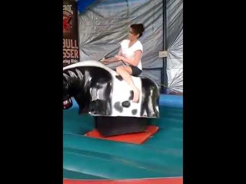 Bull Riding .... girl vs boy