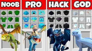 Minecraft Battle: DRAGONS CRAFTING CHALLENGE - NOOB vs PRO vs HACKER vs GOD in Minecraft