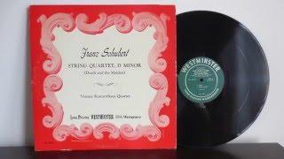Vienna Konzerthaus Quartet Schubert String Quartet (1950) Westminster Records - Vinyl Album
