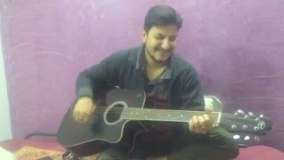 Ae kash ke hum hosh mein ab on guitar by jay