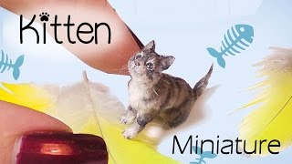 Miniature Cat Tutorial // Realistic Kitten Dollhouse DIY // SugarCharmShop