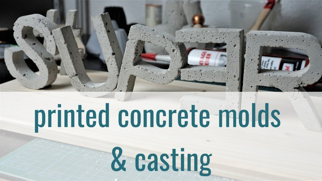 3D printed concrete molds and casting
