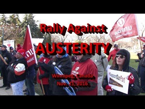 Winnpeg Rally Against Austerity