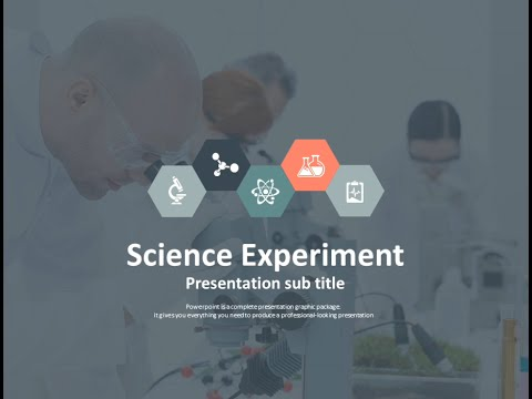 science experiment animated ppt template - YouTube