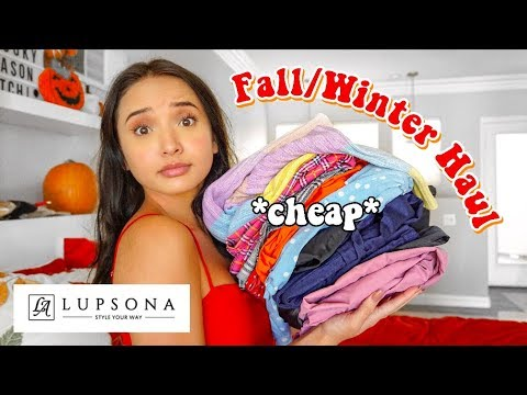 AFFORDABLE FALL TRY ON CLOTHING HAUL FT. LUPSONA  HAUL MONTH EP.1