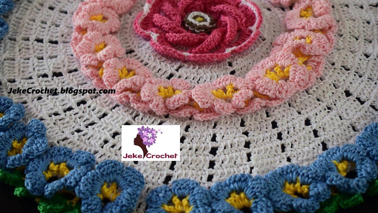 Tapete Jardín Floral 1era parte 🌺🌺 paso a paso - crochet ...