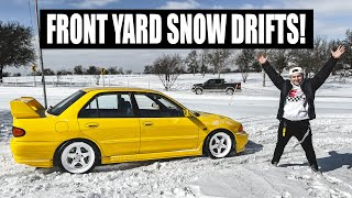 homepage tile video photo for Turning my yard into a SNOW RALLY TRACK! (Ford F250 + Evo III snow day)