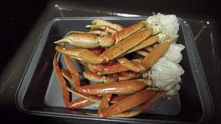 Frozen Snow Crab Sections, Rinsed In Hot Water..