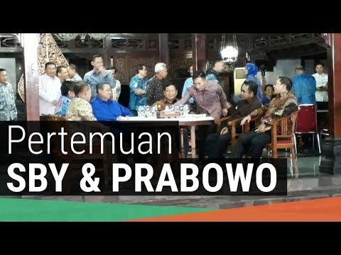 Pertemuan SBY dan Prabowo di Cikeas pada 27 Juli 2017