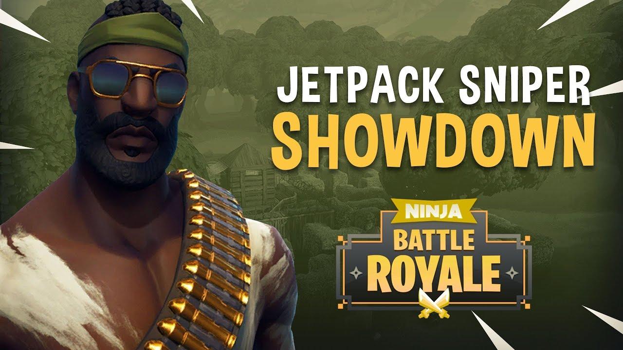 Jetpack Sniper Showdown! - Fortnite Battle Royale Gameplay - Ninja