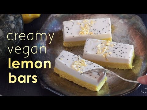 Vegan Lemon Bars w/ Ginger & Turmeric