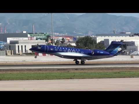 Azerbaijan Government Gulfstream G650 VP-BBF Take Off Malaga LEMG