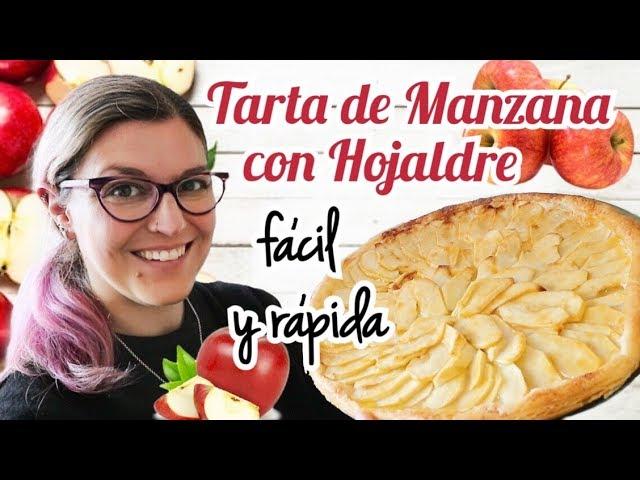TARTA DE MANZANA Fácil y Rápida CON HOJALDRE