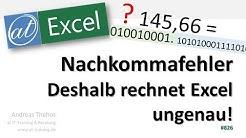 Deshalb rechnet Excel bei Nachkommazahlen ungenau!