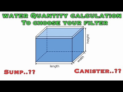 Fish Tank Water Quantity Calculation To Choose Your Filter   Tamil  