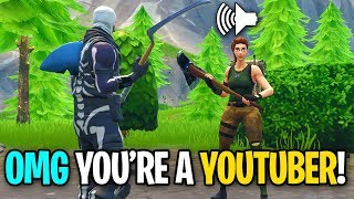 NOOB GETS HIS BROTHER ON THE MIC ON FORTNITE! (He FREAKED OUT!)