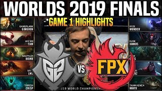 G2 vs FPX Game 1 Highlights Worlds 2019 FINALS - G2 Esports vs FunPlus Phoenix Game 1 Highlights