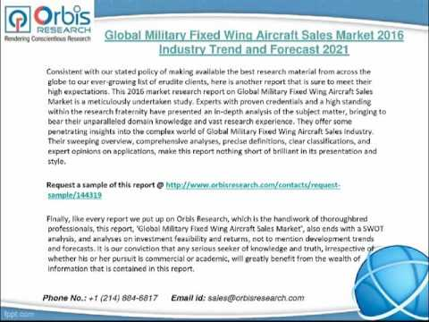 2016 Global Military Fixed Wing Aircraft Sales Market