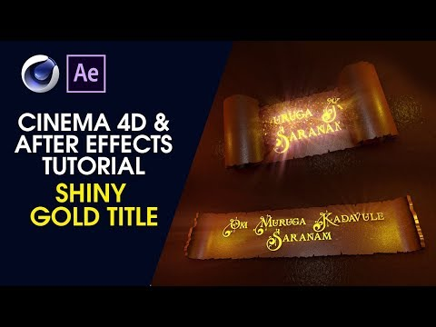 Shiny Gold Title - Cinema4D And After Effects Tutorial