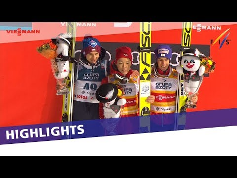 Highlights | Maiden victory for Kobayashi in Wisla LH event | FIS Ski Jumping