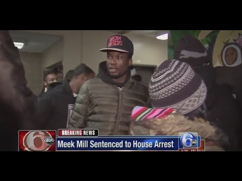 Meek Mill Sentenced To 90 Days House Arrest For Probation Violation (New 2016)