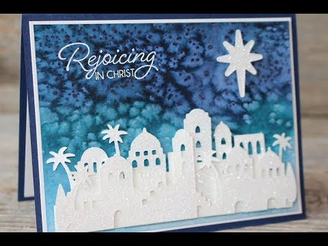 Stampin Up Night In Bethlehem Watercolor Christmas Card