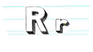 How to Draw 3D Letters R - Uppercase R and Lowercase r in 90 Seconds
