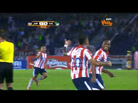 Atlético Junior 1 - 0 Deportivo Cali. Fecha 7 Liga Postobón 2014-I  - Win Sports