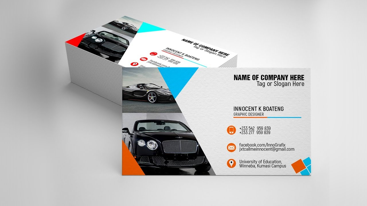 Professional Business Card Tutorial  - Design Your Own | Photoshop CS6 |