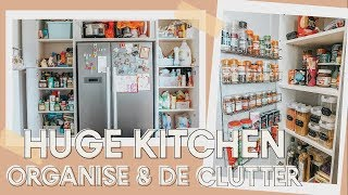HUGE KITCHEN ORGANISE & DE CLUTTER | STORAGE SOLUTIONS | KATE MURNANE