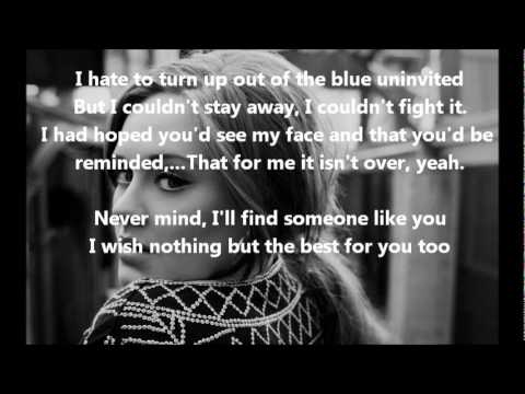 Someone Like You- Adele- Lyrics