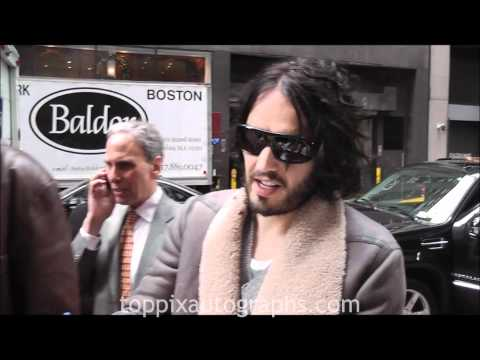 Russell Brand - Signing Autographs at a Charity Event in NYC