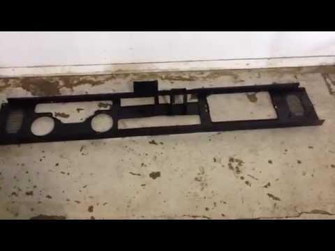 Jeep Wrangler YJ Black Metal Dash Frame