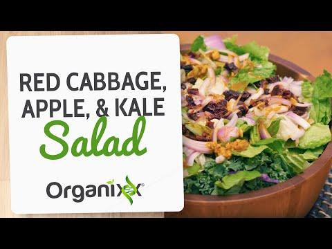 Red Cabbage, Apple & Kale Salad | Enjoy This Tasty Antioxidant, Anti-Inflammatory Enzyme-rich Salad