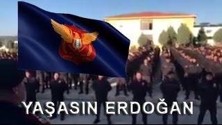 """Suriyeli polisler """"Yaşasın Erdoğan"""" diyerek her yeri inletti!"""