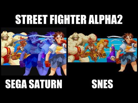 STREET FIGHTER ALPHA2のオープニング比較(SEGA SATURN,SNES)