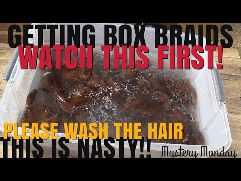 VINEGAR RINSING ON KANEKALON BRAIDING HAIR- PREP FOR BOX BRAIDS