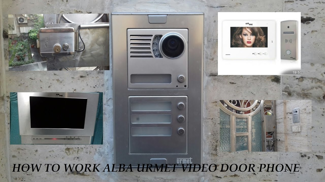 ALBA URMET VIDEO DOOR PHONE WITH ELECTRONIC DOOR LOCK Model!