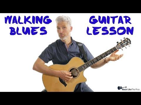 Walking Blues Rhythm Guitar Lesson | 4K