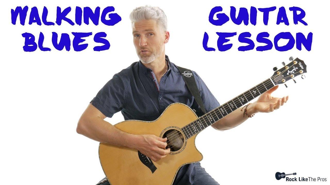 walking blues rhythm guitar lesson 4k youtube. Black Bedroom Furniture Sets. Home Design Ideas
