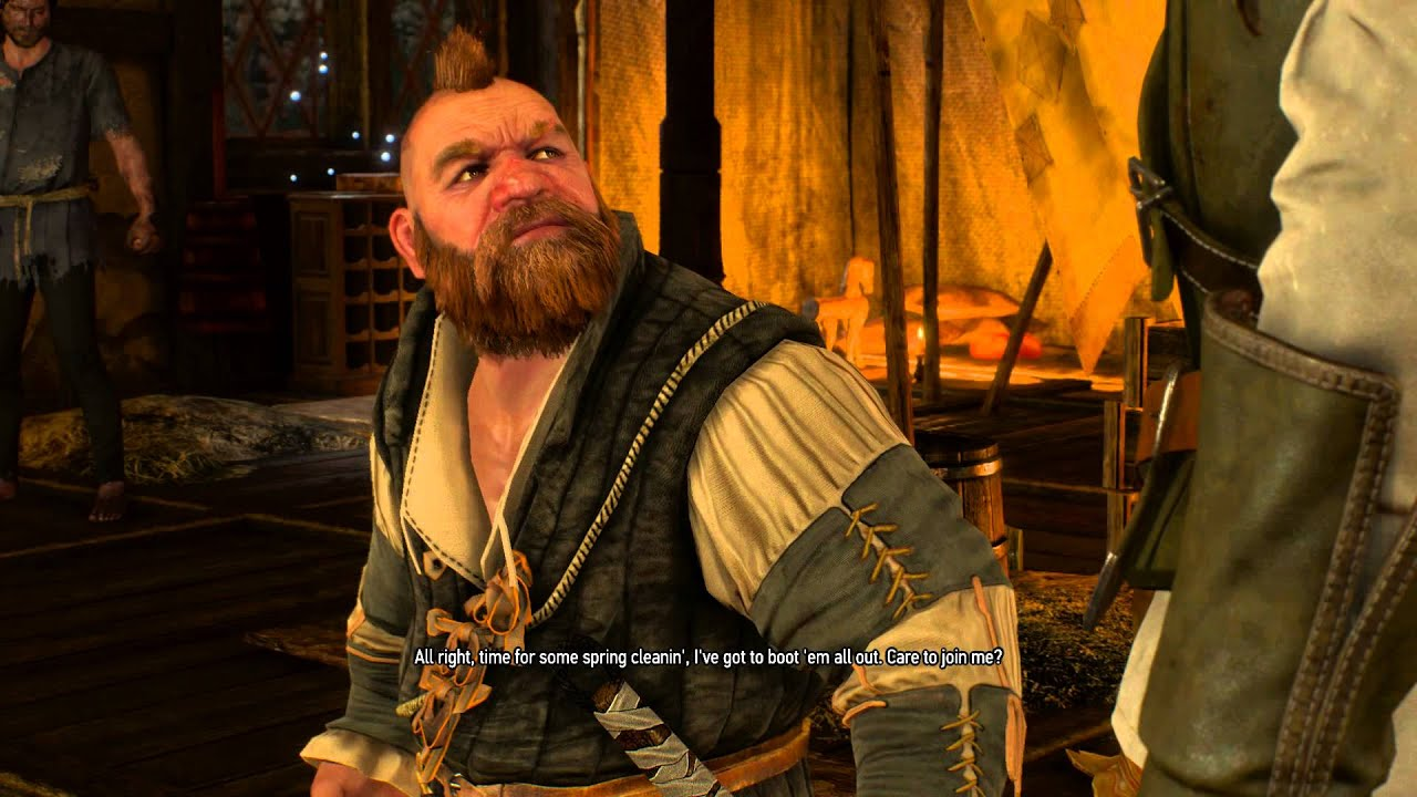 The Witcher 3 Broken Flowers Zoltan Chivay Geralt Reunite