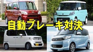 タント・スペーシア・N-BOX・eKスペース…自動ブレーキライバル対決の結果は!?