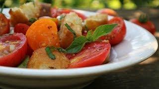Панцанелла. Итальянский салат из помидоров и хлеба  Panzanella Salad. Recipe