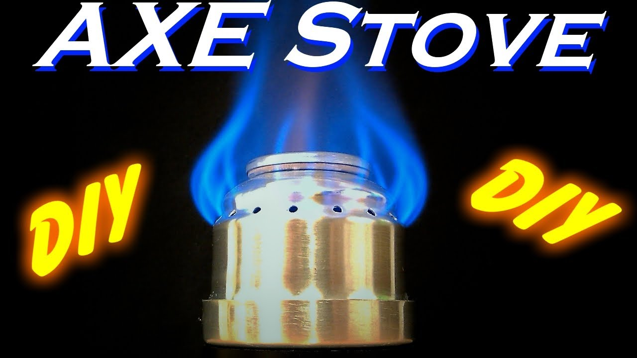 Diy how to make an axe can alcohol stove youtube for How to make a stove