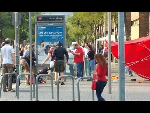 Resultado de imagen de agresion independentistas seguidores españa